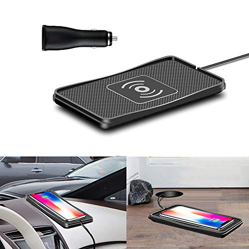 Wireless Charger car Wireless Charging pad qi 10W Quick Charger Thin Wireless car Charger Charging pad Wireless Phone Charger 7.5W/5W Wireless Charging Station Dock glaxys9 Charger s8 s6s7 note8(C3)