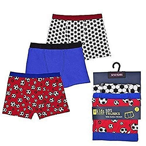 R J M 3 paar jongens voetbal ontwerp Boxer Shorts Briefs ondergoed