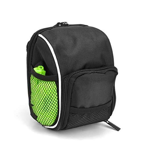 CompraJunta Fahrradtasche für Lenker und Aisento, 600d Polyester-Faser wasserdicht (175 * 130 * 90mm), 1.0 L Lumbar Pocket