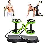 GYFHMY Sport Core Double Ab Roller - Fitness-Bauchrad-Trainingsgeräte - 5 Verschiedene Trainingsstufen, No Noise Abs Workout - für Heim, Fitnessstudio, Reise