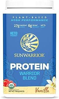 Sunwarrior Warrior Blend Protein, Organic Plant-Based, Vanilla, 1.65 lb (750 g)