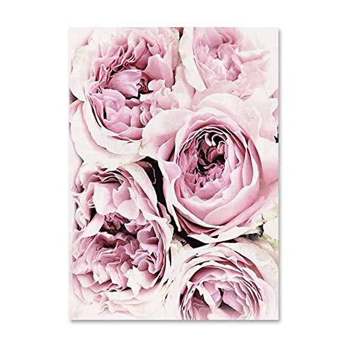 HOKUSAI FLOWERS FIORI Quadro Pannello mdf Stampa su Tela Giclée Fine Art Poster