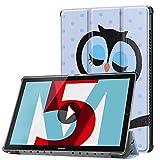 Huawei MediaPad M5 10.8 inch Case, Huawei MediaPad M5 8.4 inch Case, Gylint Smart Case Trifold Stand with Auto Sleep/Wake for Huawei MediaPad M5 8.4/10.8 inch Tablet (Owl, M5 8.4 inch)
