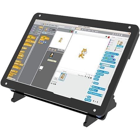 アクリルケース7インチスクリーン付きポータブルモニター - IPS容量性ディスプレイ1024x600 - Raspberry Pi 4、Win10 IOT、ラップトップに対応 - 調整可能な角度(タッチ機能)