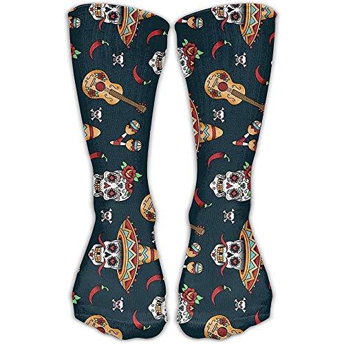 NA Gitaar peper suiker schedel nieuw katoen crew sokken mode enkeljurk sokken voor mannen en vrouwen