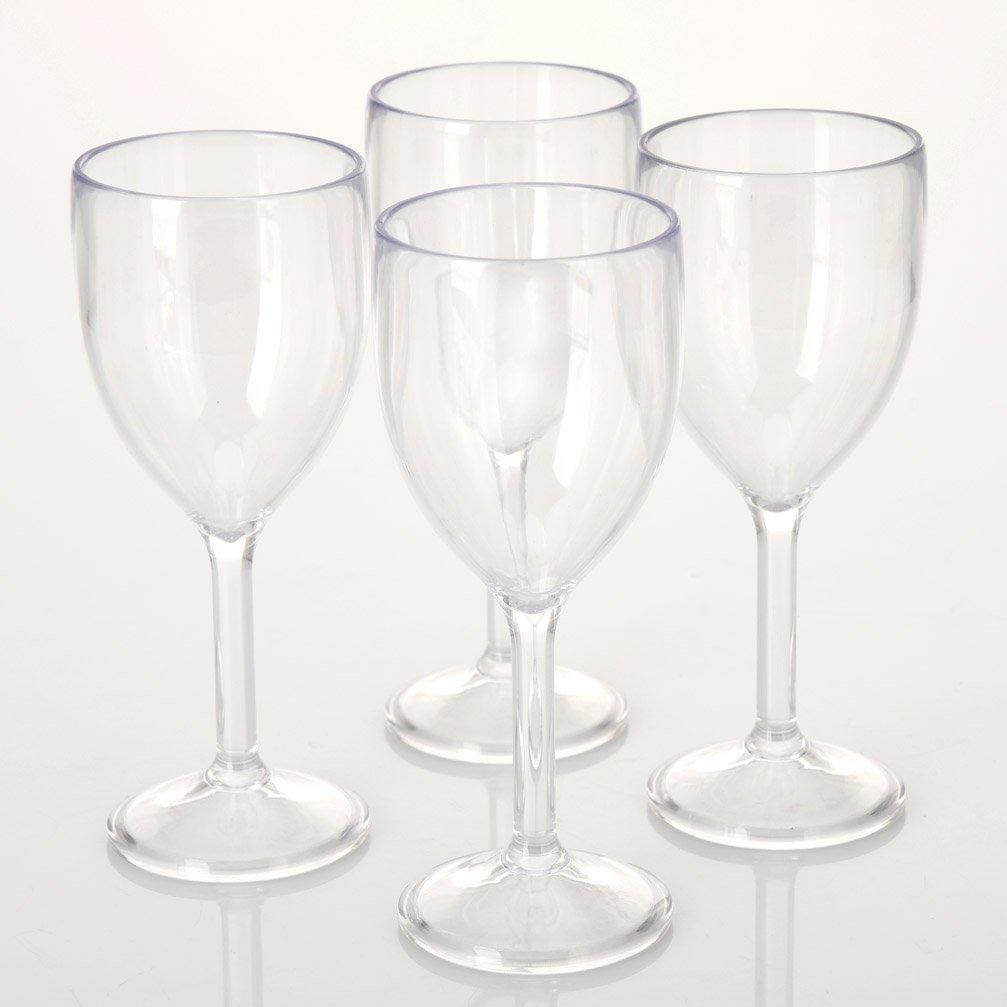 CRYSTAL Wine Glasses Plastic Picnic