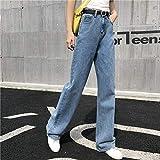 YSDSBM Jeans Mujeres Cintura Alta fósforo Retro Ocio Diario Mujeres Mujeres Encantadora Simple