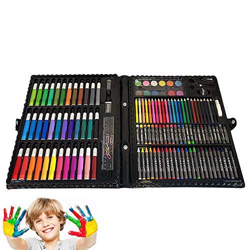 AZWER 150 unids Art Supplies para niños, Pintura Infantil Herramientas de Dibujo de Color Pluma de Color Pastel Dibujo Lápices de Pintura Art Supplies Suministros Niños Regalos Dibujo Set