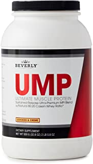 Beverly International UMP Protein Powder 30 Servings, Cookies and Cream. Unique whey-Casein Ratio Builds Lean Muscle and Burns Fat for Hours. Easy to Digest. No Bloat. (32.8 oz) 2lb .8 oz