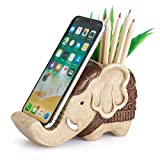 Pen Pencil Holder with Phone Stand, Coolbros Resin...