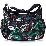 AIBILIEI multi-tasca Moda Borsa Messenger Bag, Squisito Donna Viaggio, Escursioni, Shopping uso Quotidiano(2-Foglie di pisello)