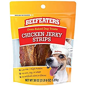Beefeaters Chicken Jerky Strip Treats for Dogs | 38 oz