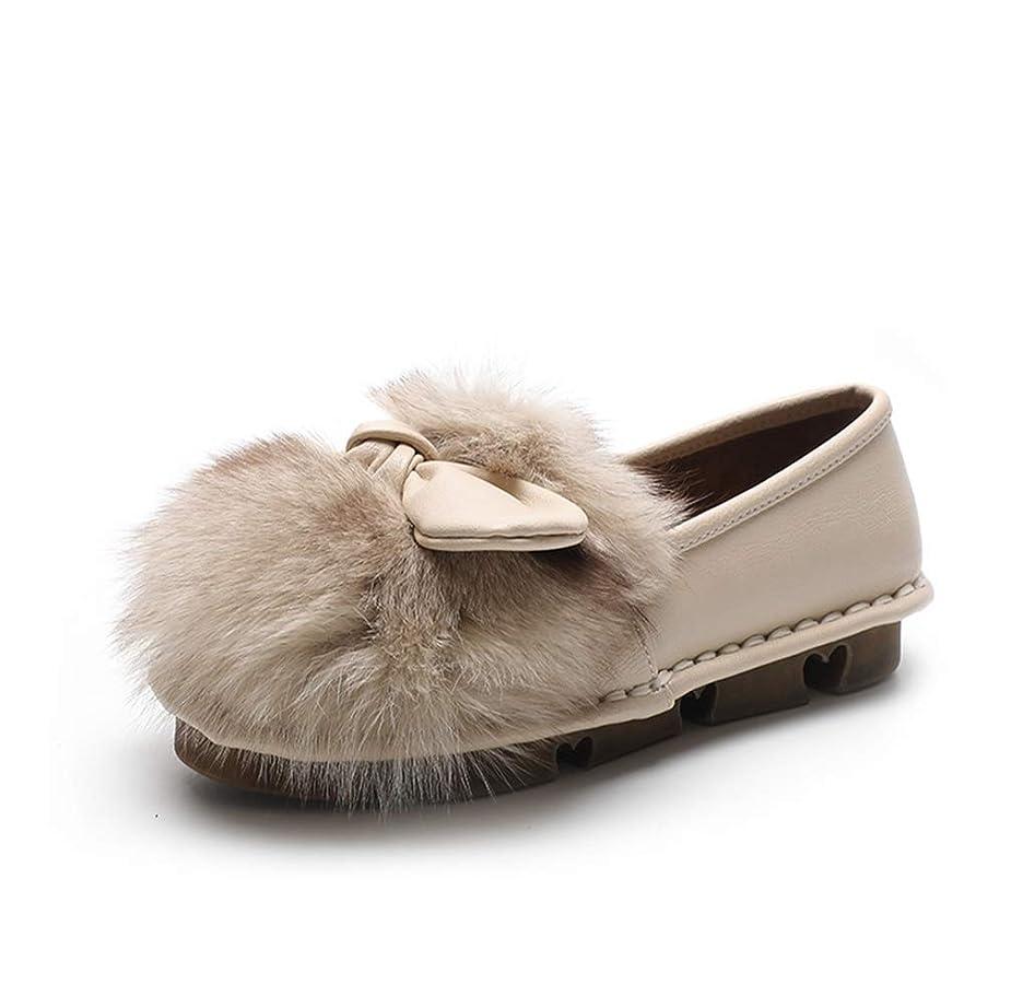 元気テスピアンライオネルグリーンストリートファーパンプス リボン フラットシューズ パンプス ファー リボン もこもこ あったか ぺたんこ 可愛い シューズ 靴 秋冬 モカシン 歩きやすい 痛くない フラット ペタンコ 柔らかい ローファー スリッポン おしゃれ 裏起毛