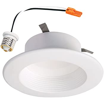 "HALO Recessed RL460WHZHA69 Zigbee Smart LED Downlight, 4"", White"
