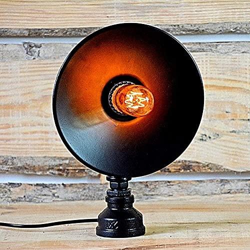 JAOSY Lámpara de Mesa Retro Europea Loft lámpara de Mesa de Tubo de Hierro Forjado Bar Restaurante Tubo Creativo lámpara de Viento Industrial 22 * ?15 * 30 cm