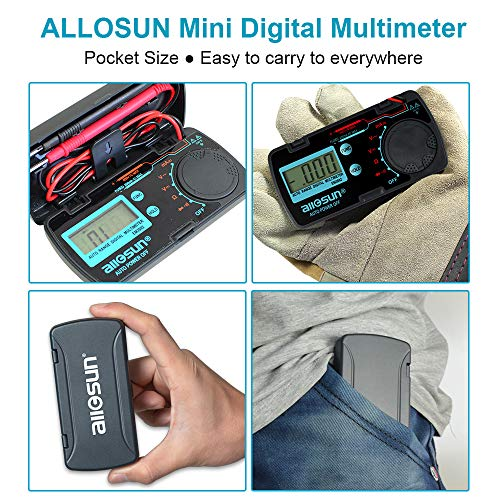 ALLOSUN Pocket Size Digital Multimeter Auto Range Multi Tester (EM3082 (Auto Range))