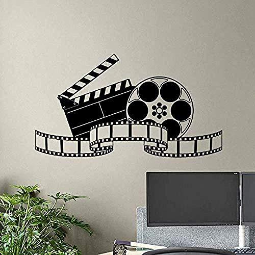 Kino Wandtattoo Movie Film Tape Poster Heimkino Action Zeichen Vinyl Aufkleber Streifen Abnehmbare Innen Studio DecorCM 72x131 cm