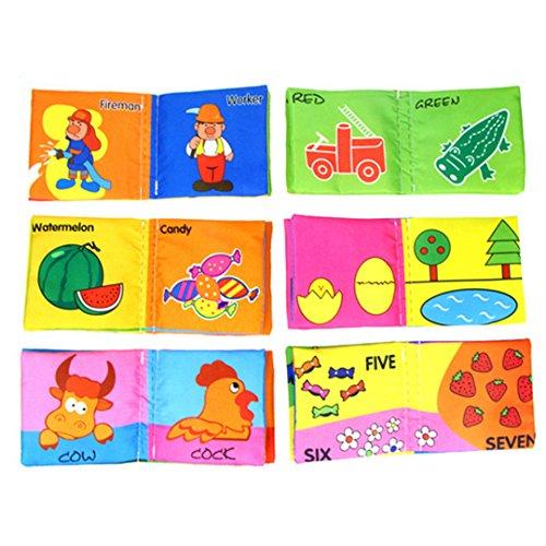 ABBY Enfant Anglais Livre en Tissu d'Apprentissage Précoce Bébé Livre de Palme Six en Option