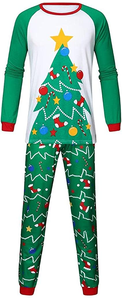Christmas Pajamas for Kids Family Matching Outfits Xmas Tree Jammies Clothes Holiday Sleepwear Sets Long Sleeve Pjs