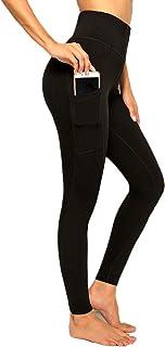 RIOJOY Leggings de Fitness pour Femme Taille Haute contr/ôle du Ventre fessier Extensible