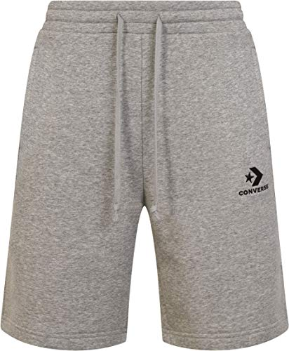 Converse Star Chevron EMB Short VGH Herren-Shorts, Grau S grau (Vintage Grey Heather)