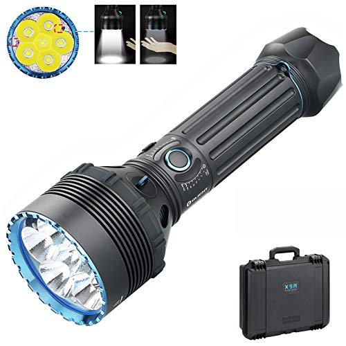 Olight X9R Marauder Torch Max 25,000 lumens/ 630 Meters 6* Cree XHP70.2 LED Powerful Torches Light The Largest and Highest Output Flashlight Ever Produced by Olight, with BanTac Battery Case