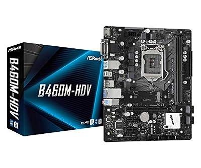 ASROCK B460M-HDV Supports 10th Gen Intel Core Processors (Socket 1200) Motherboard