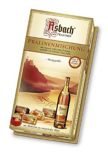 RCP Asbach Pralinenmischung, Mit und ohne Kruste, Flüssige Füllung, Alkoholhaltig, Tolles Geschenk, 2 x 125 g