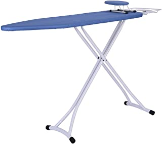 Unbran Ironing Board, Abbsh Folding Ironing Board Home Supplies Clothes Ironing, 48x15 inch Home Ironing Board 4 Leg Foldable Adjustable Board with Cover US Stock