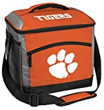 Rawlings NCAA Soft Sided Insulated Cooler Bag, 24-Can Capacity, Clemson Tigers