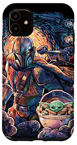 iPhone 11 Star Wars: The Mandalorian & The Child Starry Night Style Case