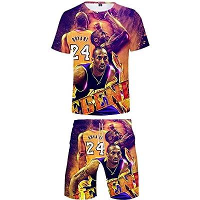 Silver Basic Camiseta con Estampado 3D de Baloncesto para Hombre Ropa de Baloncesto Top y Pantalones Cortos de Manga Corta Camisa Casual de Verano 2XL,Estrella de Baloncesto-1
