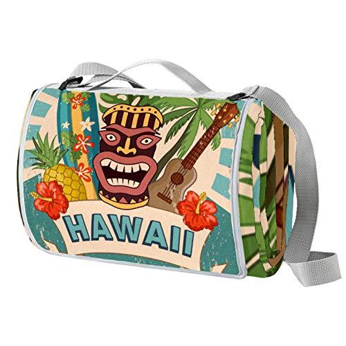 Anmarco Hawaii-Party-Picknick-Decke, wasserdicht, faltbar, für Strand, Camping, Wandern