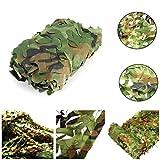 Red de camuflaje militar de 2 m x 3 m para caza con diseño de hojas del bosque, verde, 4x10m/13x32ft