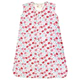 Touched by Nature Baby Organic Cotton Sleeveless Wearable Sleeping Bag, Sack, Blanket, Rosebud, 12-18 Months