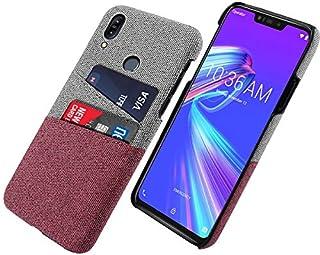 Asus Zenfone Max (M2) ZB633KL シェル, Moonmini [ キャリーケース ] [ キャリーケース ] [ 携帯電話ケース ] 保護 緩衝器 シェル カバー ケース ホルスター, Red
