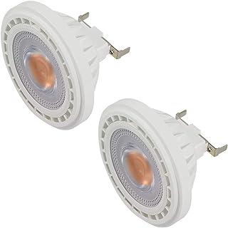 DASKOO - Juego de 2 bombillas halógenas (G53 AR111, COB 12 W, recambio para bombillas halógenas de 95 W, luz blanca cálida, 3000 K, CA, 85-265 V)
