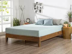 """Your purchase includes One Zinus 12-Inch Deluxe Wood Platform Bed Frame in Queen Size with all required tools for assembly. Mattress is not included Bed frame dimensions: 59.6"""" W x 80"""" L x 12"""" H 