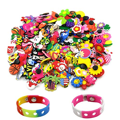 100 pcs Shoe Charms and 2 Bracelets…