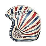 BGMKE Casco Jet para Motocicleta, Aprobado por el Dot, Casco Vintage para Adultos, Casco de Aviador, Casco para Mujeres y Hombres, Motocicleta Vespa, helicóptero, M-XL (54-63 CM)