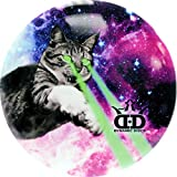 Dynamic Discs Fuzion Trespass DyeMax Laser Kitty Disc Golf Driver | Maximum Distance Frisbee Golf Driver| Stable Golf Disc | 170 Grams and Above