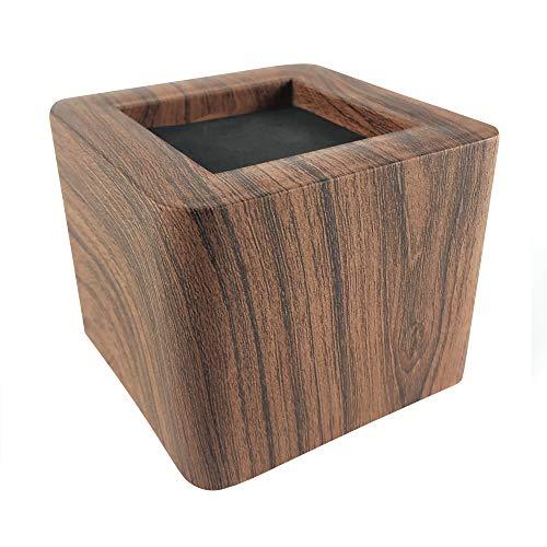 ASPEIKE Neues Upgrade Möbelerhöher Betterhöhung Möbelerhöhung Tischerhöher Elefantenfuß Bed Riser 4St, 8,5cm, Hebt bis zu 3000 kg, (realistischeres Holzgefühl) dunkle Holzfarbe