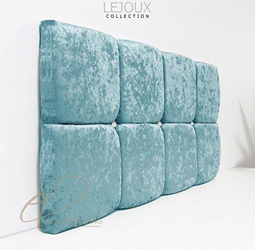 Lejoux™ Collection Cube - Cabecero de cama de terciopelo aplastado para cama individual, doble, king (10,6 cm, 10,4 cm, 24 pulgadas) de alto)