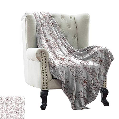 BelleAckerman Manta peluda vintage, patrón con pájaros y jaulas, ilustración de libertad y escapar, tela suave verde menta y marrón para sofá de fácil cuidado, poliéster, Color 10, 60'x70' Inch