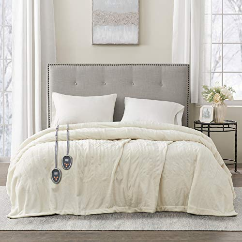 Beautyrest Plush Electric Blanket Throw For Cold Weather...