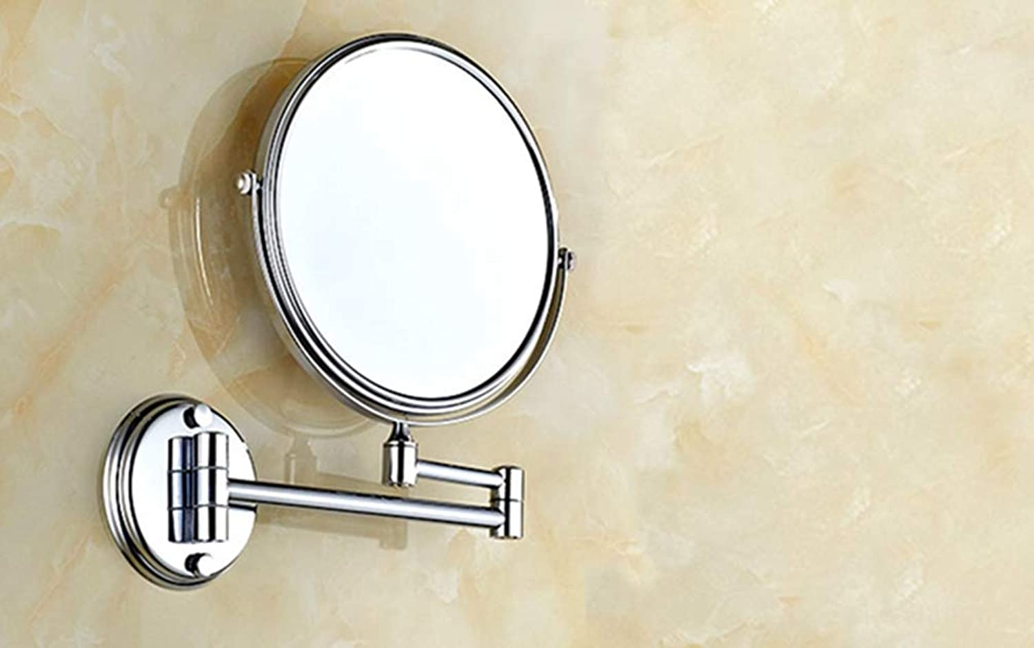 LUDSUY Bathroom Accessories Polished Chrome Brass 8 Bathroom Shaving Beauty Makeup Magnify Mirror Dual Side Wall Mounted ∕ Bathroom Accessory