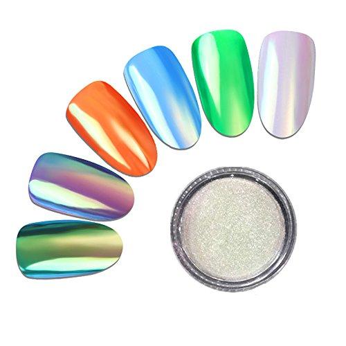 MEILINDS 1g Neon Polvere Effetto Specchio Nail Art Glitter Polvere Nail Glitter Powder per nail art