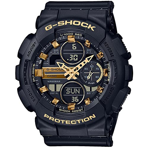 Relógio CASIO G-SHOCK feminino preto anadigi GMA-S140M-1ADR