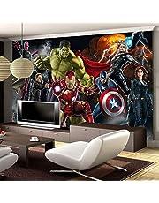 Avengers fotobehang Aangepaste 3D-behang Voor muren Hulk Iron Man Captain America muurschildering Jongen Slaapkamer Woonkamer Designer Breedte 200cm * Hoogte 200cm