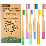 Cepillo de dientes de bambú, respetuoso con el medio ambiente, cepillo de dientes para bebés y niños, sin desperdicios, cepillo de dientes suave, 6 paquetes